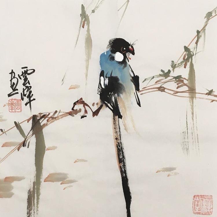 中央美术学院绘画高材生、知名职业画家【云峰:精品花鸟】