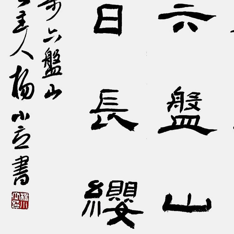 中国书法家协会会员、河南南阳宛城书协副主席【杨小立 隶书条幅】