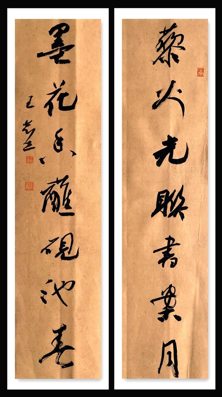 中国书法家协会会员、国展获奖【王志立 行书对联】